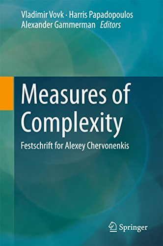 Download Measures of Complexity: Festschrift for Alexey Chervonenkis Pdf