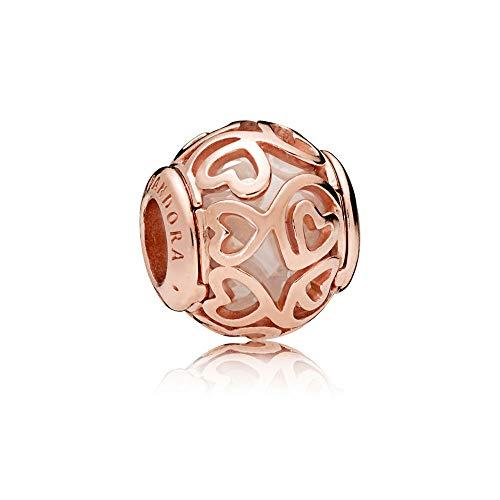 Gold Charm Heart Filigree (Pandora Hearts Filigree Rose Gold Charm 787348CZ)