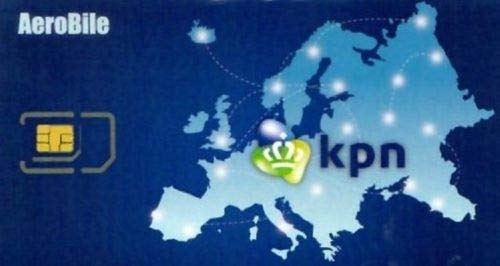 Europe Prepaid Data SIM 4G LTE KPN Network in 31 Countries Roaming Free Mobile Hotspot Tethering Good for 60/90 Days (8GB/60Days)