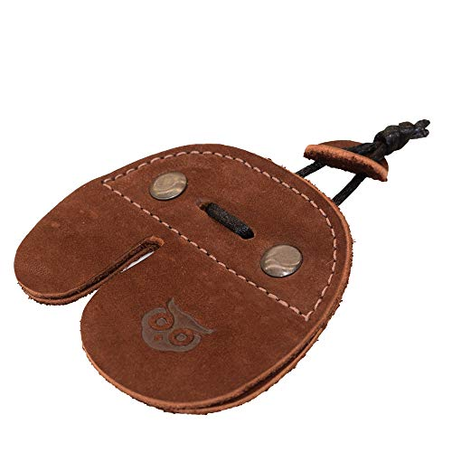 Hide & Drink, Rustic Leather Right Handed Archery Finger Tab/Recurve Bows/Hunting Fingers Protector Handmade :: Swayze Suede
