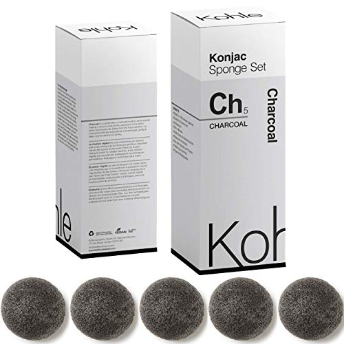 Charcoal Konjac Sponge Set Exfoliating