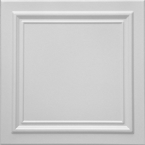 - RM-24 Polystyrene (Styrofoam) White ceiling tile to cover popcorn (Pack of 48 tiles). Easy paintable. Easy DIY glue up application on any flat surface or popcorn ceiling. Decorative ceiling panels.