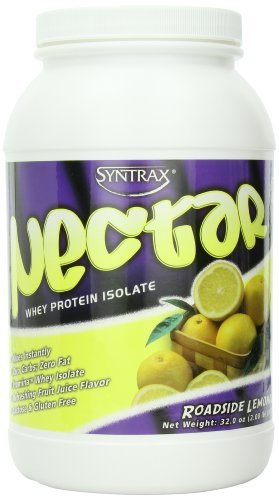 Syntrax Nectar Roadside (SynTrax Nectar Whey Protein Isolate, Roadside Lemonade , 2.00 lbs (907g) by Syntrax)