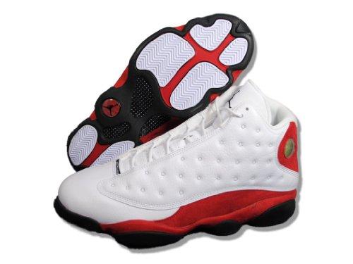 Nike Air Jordan 13 Retro, Zapatillas de Deporte para Hombre white/black-varsity red