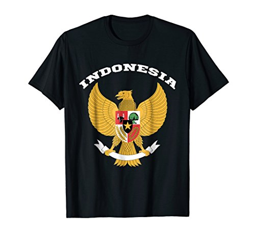 Indonesia Coat Of Arms - Indonesia T-shirt Coat of arms Tee Flag souvenir Jakarta