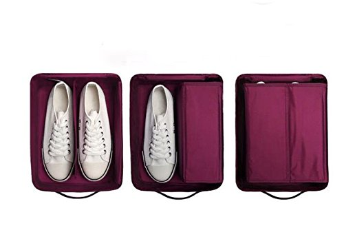 1PC Fashion Travel Portable Shoe Bags Multicolor Storage Organizer Bag for Men Women (Purple) by erioctry (Image #3)