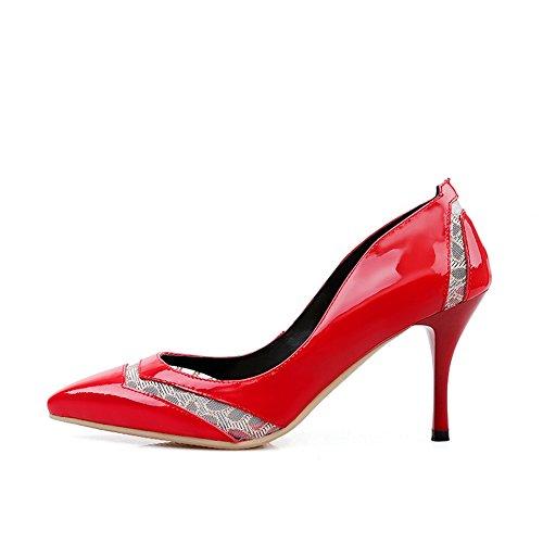 Adee, Scarpe col tacco donna, rosso (Red), 35 EU