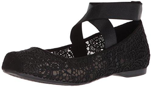 Jessica Simpson Women's MAGGDA Ballet Flat, Black, 8.5 Medium ()