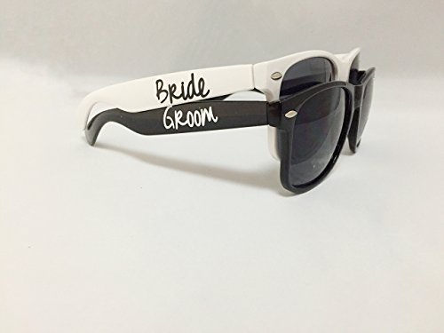 Black and White Bride or Groom Custom Wedding - Sunglasses Wedding Custom