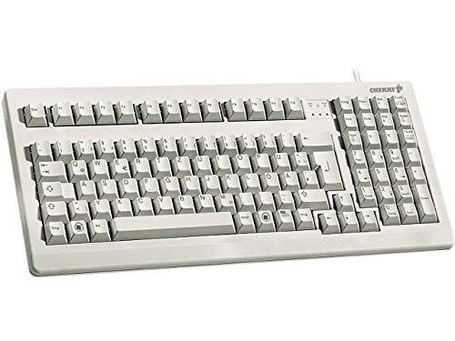 Tkl Professional Series - Cherry Electronics G80-1800LPCEU-0 Series G80-1800 Compact Industrial Keyboard, USB and PS/2 Interface, Mechanical Keyswitches, 15.9