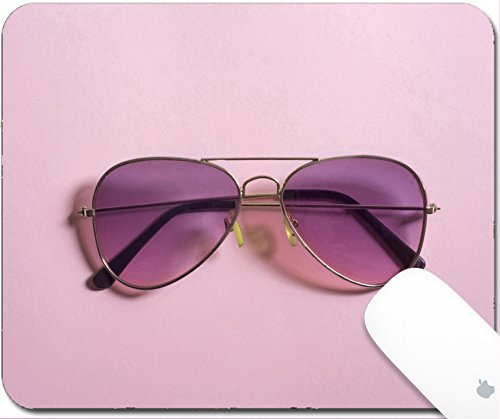 Luxlady Gaming Mousepad 9.25in X 7.25in IMAGE: 34657978 Pink aviator - Sunglass Monocle