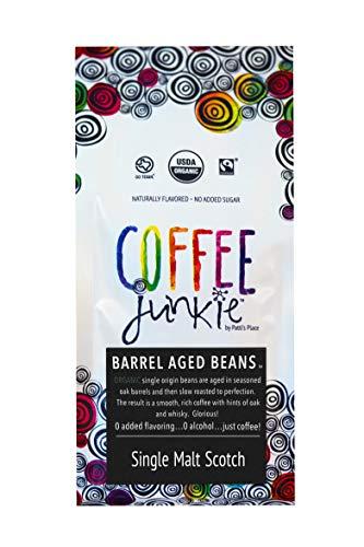 (Coffee Junkie Single Malt Scotch Barrel Aged Coffee Beans)