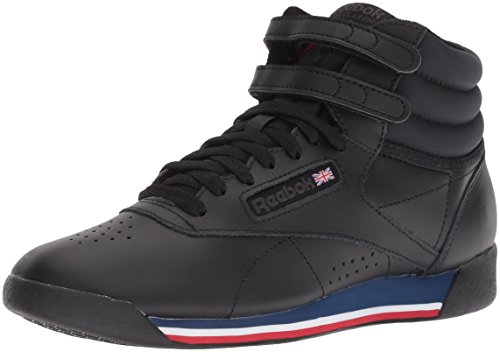 Reebok Women's Freestyle Hi Walking Shoe, Retro-Black/White/Bunker, 7.5 M US]()