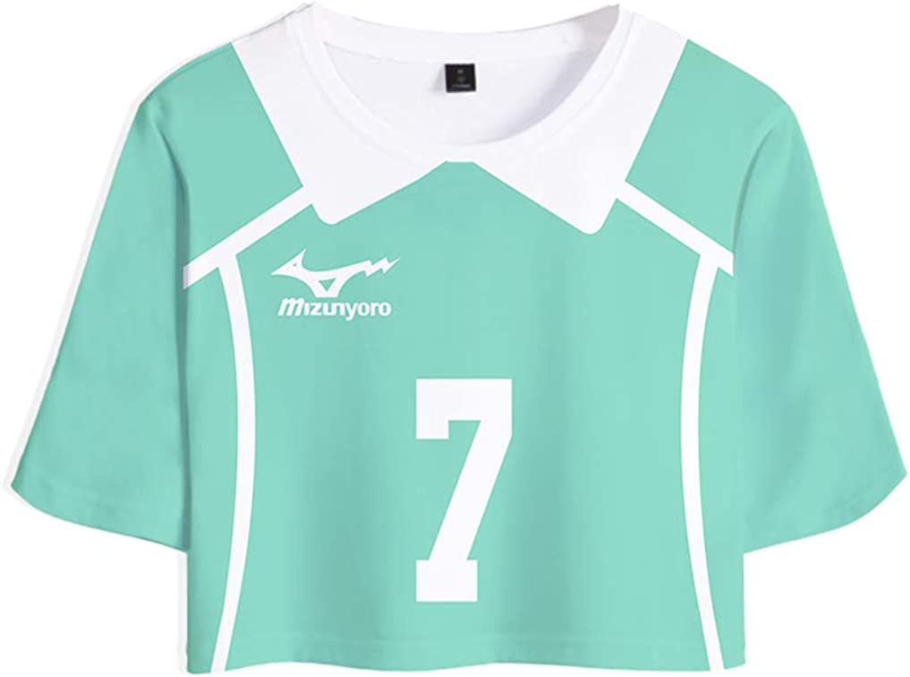Haikyuu! T-Shirts und Hosen Set Sportswear-Sets Top /& Kurze H/öschen Bekleidungssets Sportbekleidung