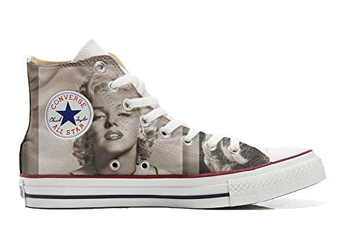 Converse All Star Hi Customized personalisierte Schuhe (Handwerk Schuhe) Marilyn Monroe