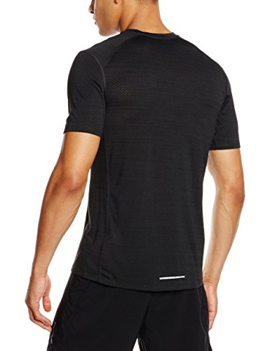 9094855f00d8 Amazon.com  Nike Mens Dri-Fit Cool Milers Short Sleeve Running T-Shirt  Black Pine 718348-010 Size X-Large  Shoes