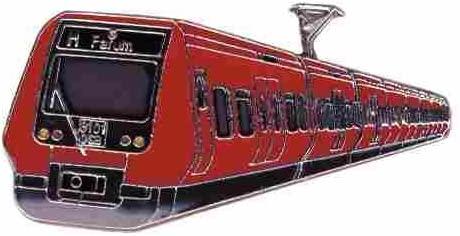 Alfiler de Corbata S de tren Copenhague * DE Roller Shop de Euro ...