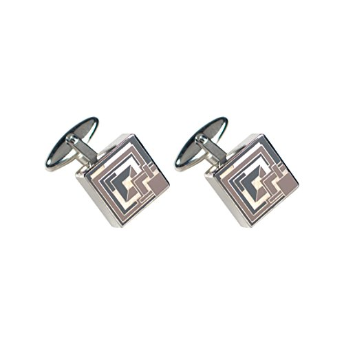 brick cufflinks by frank lloyd wright for acme studios
