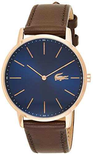 Lacoste Mens Quartz Watch, Analog Display and Leather Strap 2011018