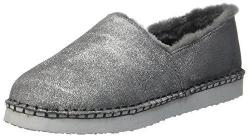Damen Pantoffeln ARA Beige Taupe metallic Cosy UB66P