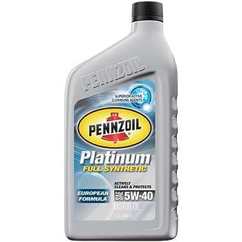 Pennzoil 550016718 platinum 5w 40 european for Pennzoil ultra platinum 0w 40 motor oil