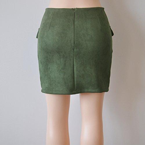 Couleur Fashions Mini Femme t Elegante Bandage Jupes Party Vert de Traverser Fox ulein Unie Fr Hanche Jupe Court Package Jupes Moulante Xn1qwYPn