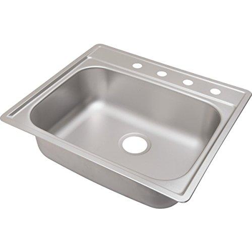 Aspen 22 x 25 in Single Bowl Kitchen Sink Stainless Steel 4 Hole 8inch Depth by Aspen