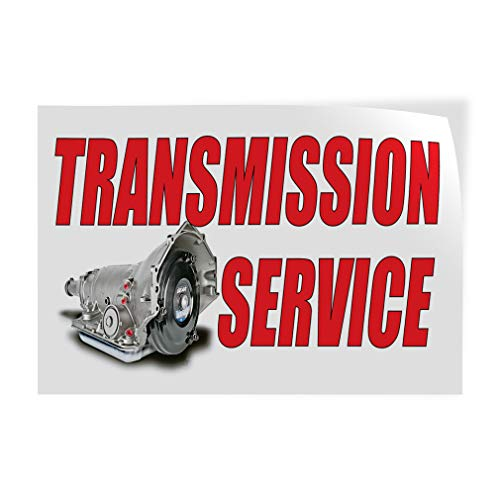 Decal Sticker Multiple Sizes Transmission Service Auto Car Vehicle Automotive Transmission Service Outdoor Store Sign White - 36inx24in, One Sticker