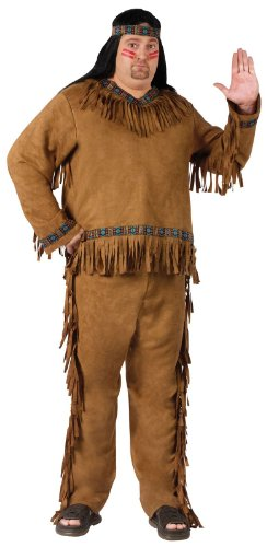 [Plus Size Adult Native American Costume] (Male Indian Costumes)