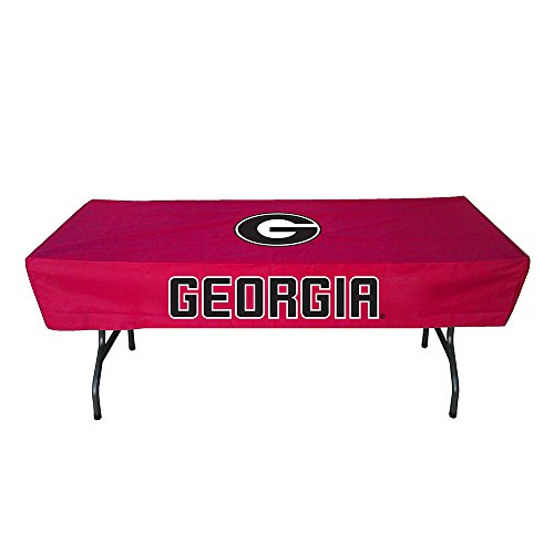 Rivalry Sports Team Logo Design Outdoor Travel Tailgating Georgia 6 Foot Table Cover by Rivalry