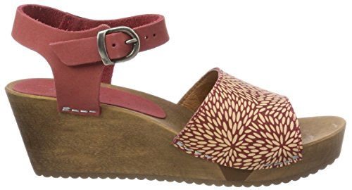 para Mujer Sandal con Wedge Pulsera Red Othenia Rojo Sanita Sandalia 4 Flex xq07gU8