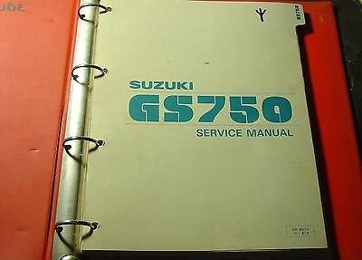 1981 SUZUKI MOTORCYCLE GS750 SERVICE MANUAL & BINDER SR-8010 E-3 (346) (Service Manual Binder)