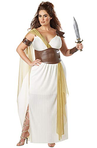 California Costumes Women's Size Spartan Warrior Queen Adult Woman Plus Costume, Cream/Gold, 1X Large]()