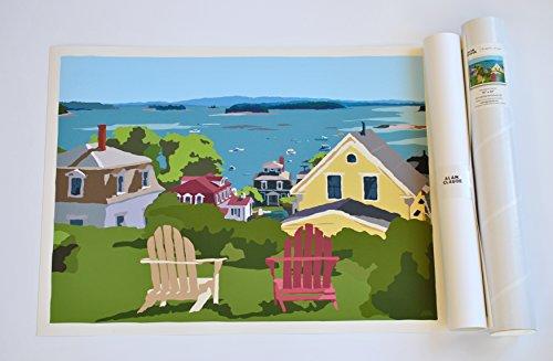 (Stonington Harbor Print (18x24 Giclee Poster, Wall Decor Art) )