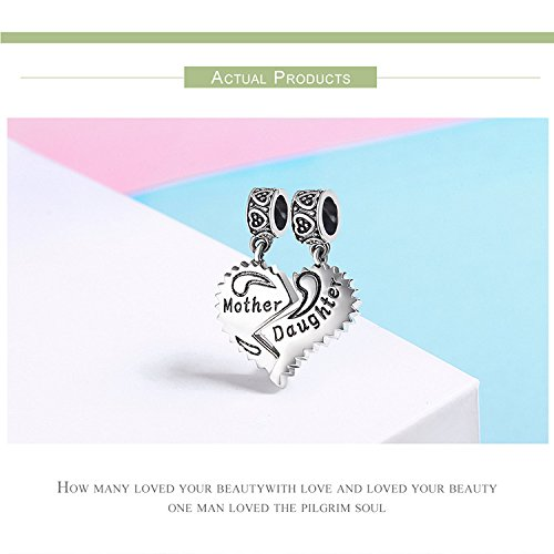 EyeCandy US Mother and Daughter 100% 925 Sterling Silver Love Forever Pendant Charms fit Bracelets Necklace Jewelry Making by EyeCandy US (Image #4)