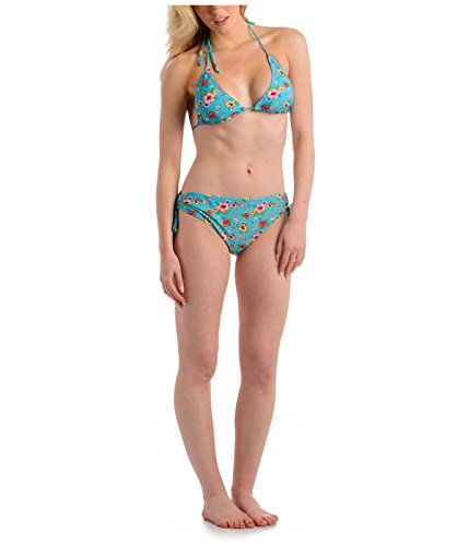Mujer Urban Beach UPF 50+ Bikini - Bleu clair à motif floral