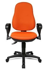 Topstar Point 70 - Silla de oficina giratoria (ergonómica), color naranja