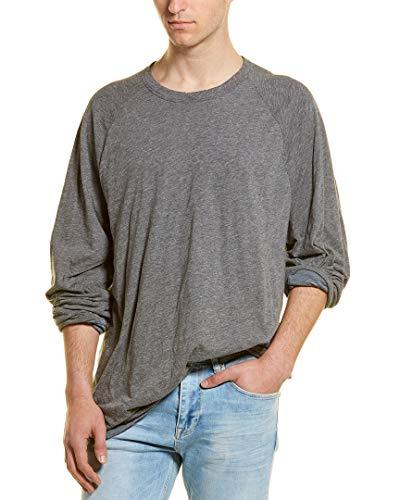 James Perse Mens Linen-Blend T-Shirt, 3, Grey ()