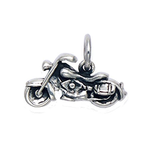 Wildthings Ltd. Small Sterling Silver Bagger Motorcycle Pendant Charm -