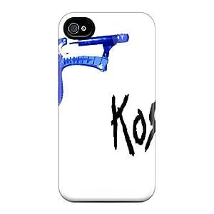 Iphone 4/4s Korn Wallpaper Print High Quality Tpu Gel Frame Case Cover