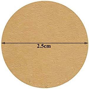 Roll DIY /Étiquettes de Papier Kraft Vierges Autocollants de Cuisson Faits /à la Main Weiqu 100pcs pour Sacs-Cadeaux /étiquettes de Joint adh/ésif /Étiquettes de Cadeau de No/ël D/écor pour Pot