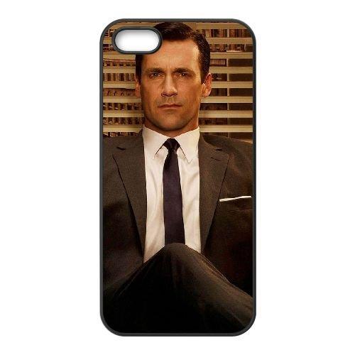 Mad Men 2 coque iPhone 5 5S cellulaire cas coque de téléphone cas téléphone cellulaire noir couvercle EOKXLLNCD25687
