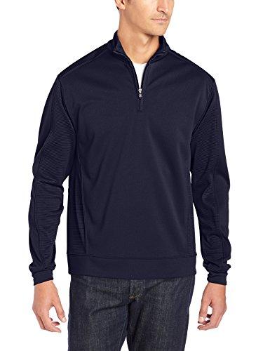 - Cutter & Buck Men's CB Drytec Edge Half Zip, Solid Navy Blue, Large