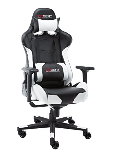 OPSEAT Master Series 2018 PC Gaming Chair Racing Seat Computer Gaming Desk Office Chair - White