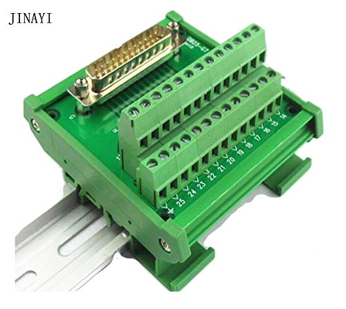 Gimax 25 pin DB25 Male female D-SUB DR-25 Signal Terminal PCB Breakout Module box Adapter Connector - (Color: DB25 Male)