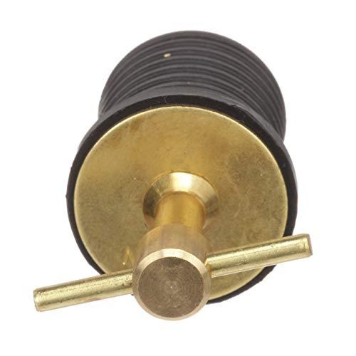 Attwood 7526A7 Brass T-Handle Drain Plug