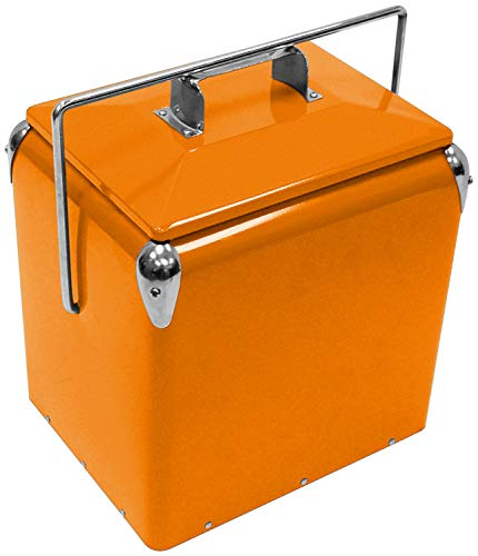 (Creative Outdoor Distributor 901068 Vintage Cooler, Orange)