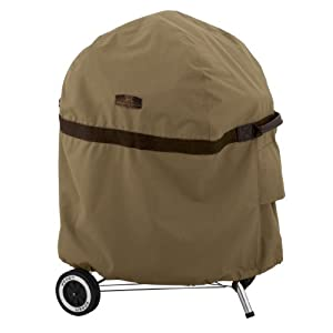 Classic Accessories Hickory Heavy Duty Kettle BBQ Grill Cover - Rugged BBQ Cover with Advanced Weather Protection (55-202-012401-EC)