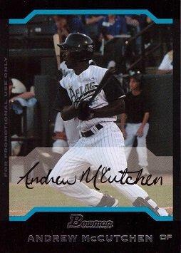 2004 Bowman AFLAC Baseball #AFL5 Andrew McCutchen Pre-Rookie Card 2004 Bowman Baseball Rookie Card