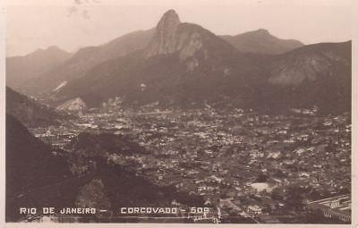G3146 Brazil, Rio de Janeiro Corcovado Photo Postcard
